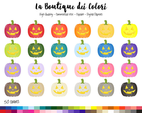 Carved Pumpkin Planner Clipart