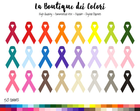 Awareness Ribbon Planner Clipart
