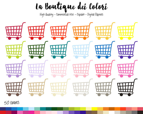 Shopping Cart Planner Clipart