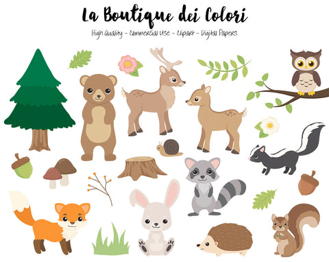 Woodland Animals Clipart