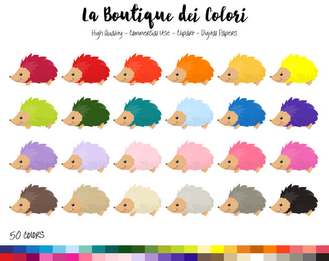 Hedgehog Planner Clipart - La Boutique Dei Colori