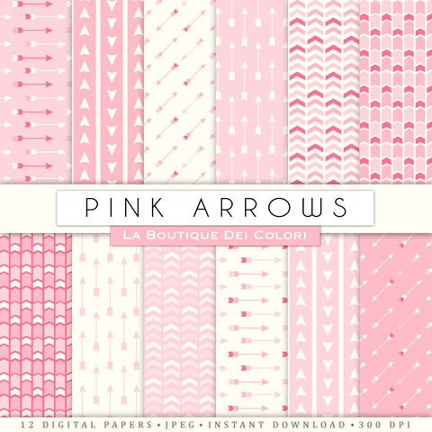 Pink Arrows Digital Paper - La Boutique Dei Colori