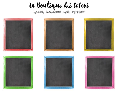 Framed Chalkboards Clipart - La Boutique Dei Colori
