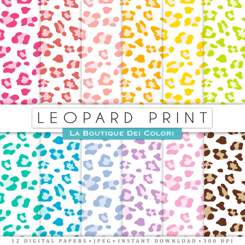 Leopard Digital Paper - La Boutique Dei Colori