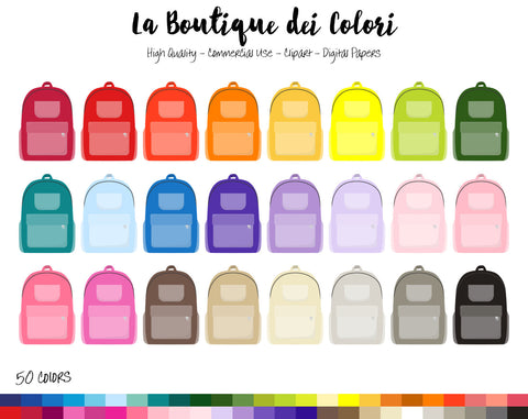 School Bag Planner Sticker - La Boutique Dei Colori