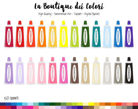 Toothpaste Planner Sticker - La Boutique Dei Colori