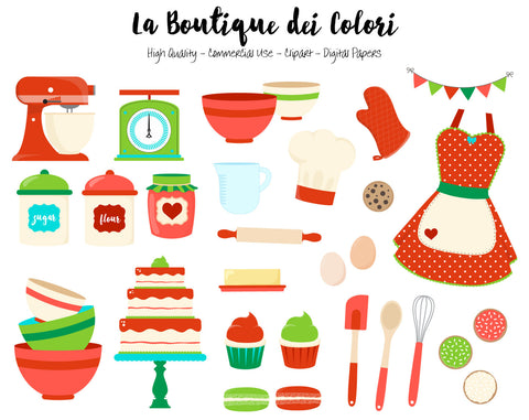 Christmas Baking Clipart - La Boutique Dei Colori - 1