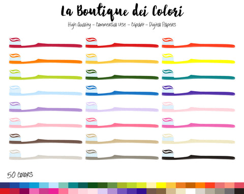 Tootbrush Planner Sticker - La Boutique Dei Colori