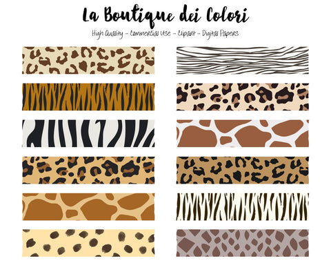 Animal Print Washi Tape Clipart - La Boutique Dei Colori
