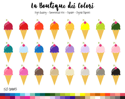 Ice Cream Planner Clipart - La Boutique Dei Colori
