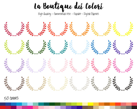 Laurel Planner Clipart - La Boutique Dei Colori