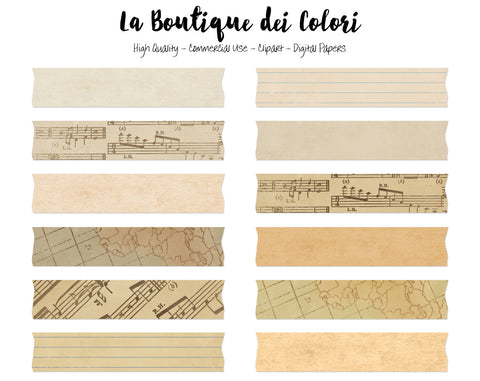 Vintage Paper Washi Tape Clipart - La Boutique Dei Colori