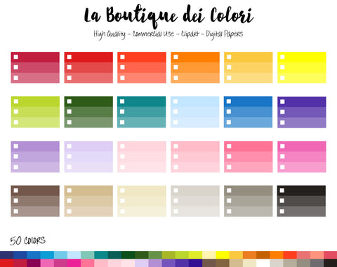 Halfbox Ombre Checklist Planner Clipart - La Boutique Dei Colori