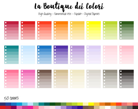 Ombre Checklist Planner Clipart - La Boutique Dei Colori