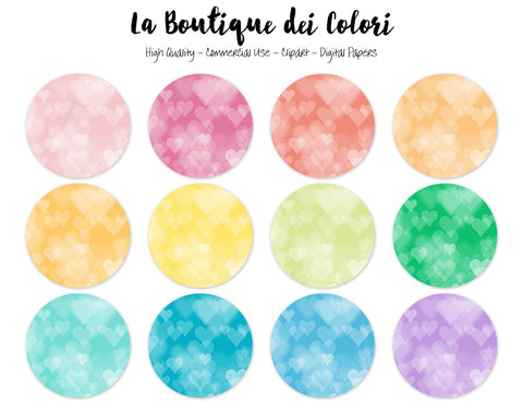 Heart Bokeh Circles Clipart - La Boutique Dei Colori