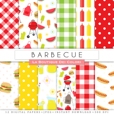 BBQ Digital Paper - La Boutique Dei Colori