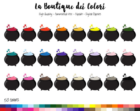 Witch Cauldron Planner Clipart - La Boutique Dei Colori
