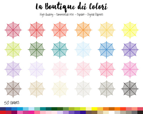 Spider Web Planner Clipart - La Boutique Dei Colori