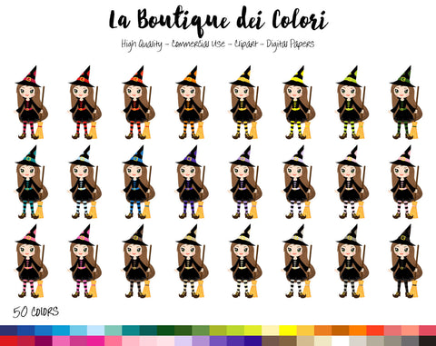 Witch Planner Clipart - La Boutique Dei Colori