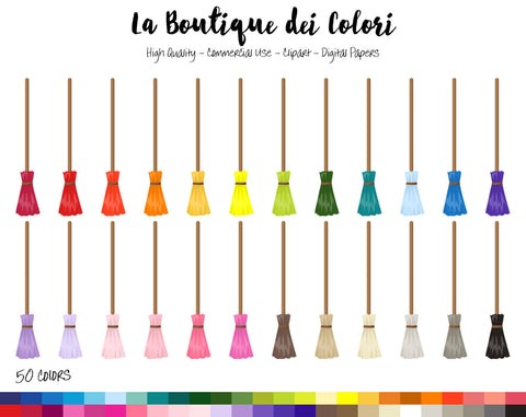 Magic Broom Planner Clipart - La Boutique Dei Colori