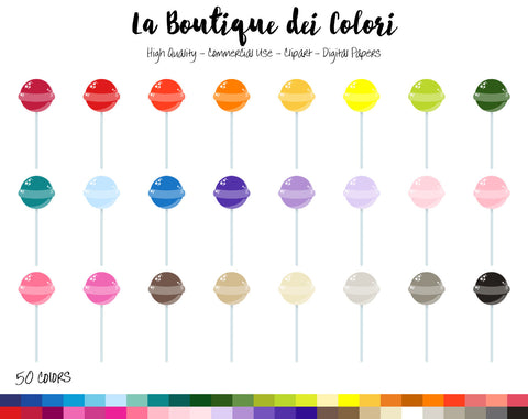 Lollipop Planner Clipart - La Boutique Dei Colori