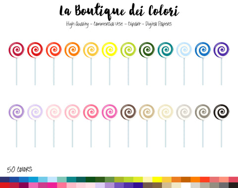 Swirly Lollipop Planner Clipart - La Boutique Dei Colori