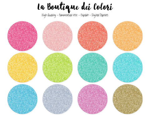 Colorful Glitter Circles Clipart - La Boutique Dei Colori