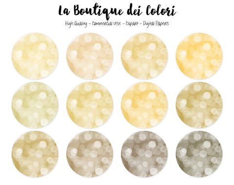 Gold Bokeh Circles Clipart - La Boutique Dei Colori