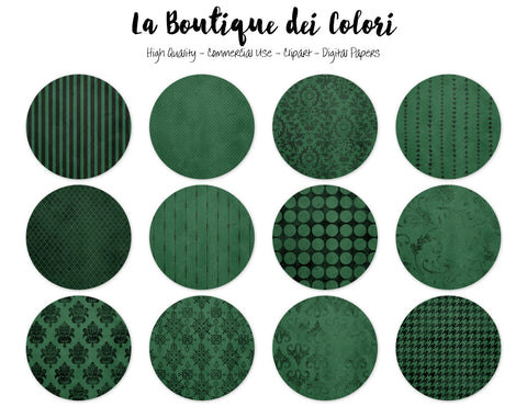 Green and Black Circles Clipart - La Boutique Dei Colori