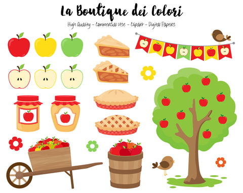 Apple Picking Clipart - La Boutique Dei Colori