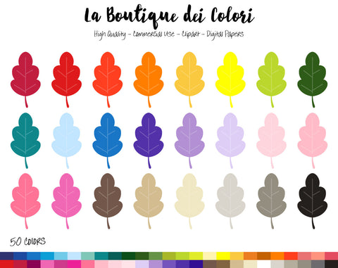 Oak Leaf Planner Clipart - La Boutique Dei Colori