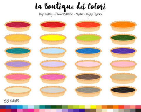 Pie Planner Clipart - La Boutique Dei Colori