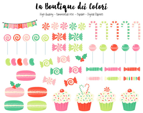 Christmas Candy Clipart - La Boutique Dei Colori
