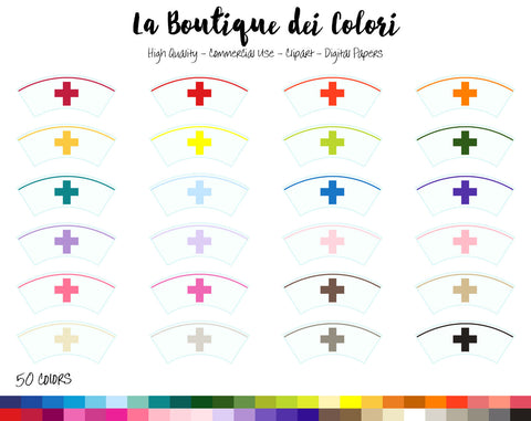 Nurse Hat Planner Clipart - La Boutique Dei Colori