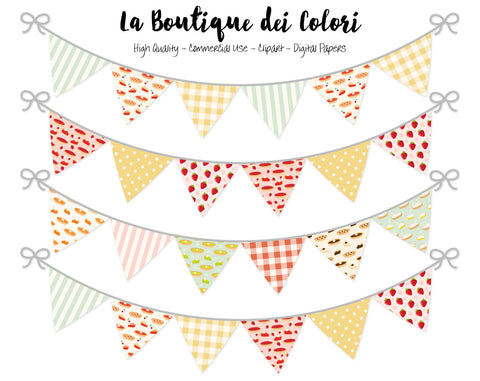 Pie Bunting Banner Clipart - La Boutique Dei Colori
