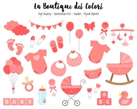 Red Baby Clipart - La Boutique Dei Colori