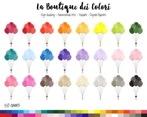 Party Balloons Planner Clipart - La Boutique Dei Colori