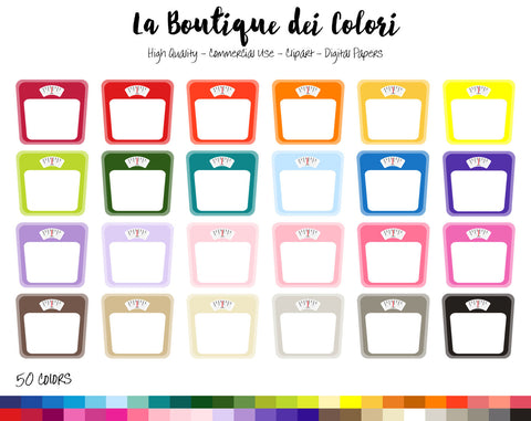 Weighing Scale Planner Clipart - La Boutique Dei Colori