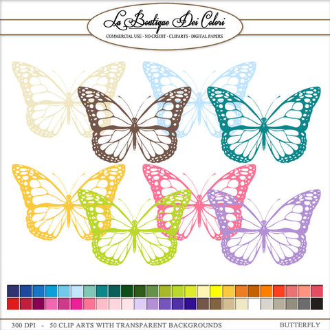 Butterfly Planner Clipart - La Boutique Dei Colori