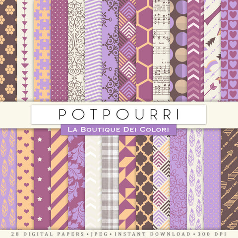 Potpourri Digital Paper - La Boutique Dei Colori