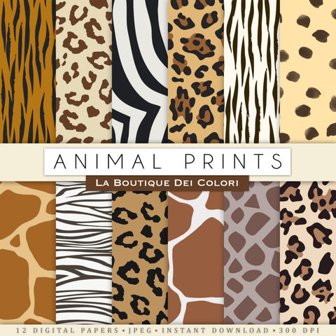Animal Print Digital Paper - La Boutique Dei Colori