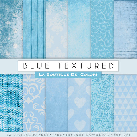 Blue Digital Paper - La Boutique Dei Colori