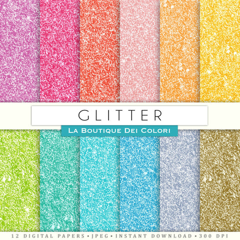 Glitter Digital Paper - La Boutique Dei Colori