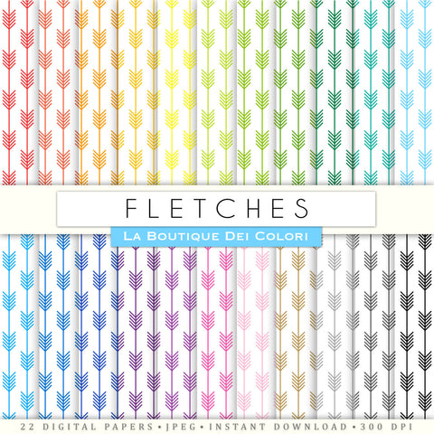 Fletching Digital Paper - La Boutique Dei Colori
