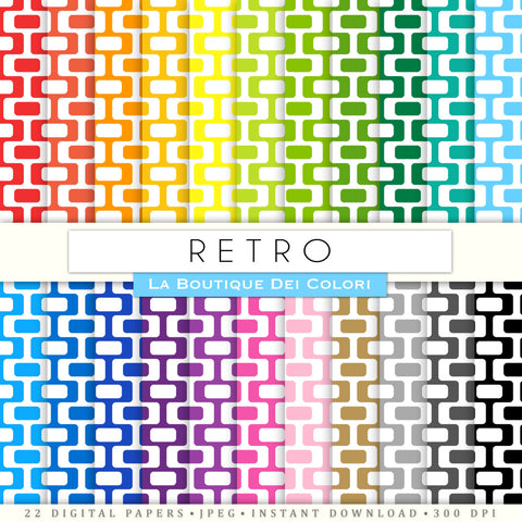 Retro Digital Paper - La Boutique Dei Colori