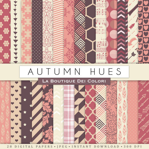 Autumn Hues Digital Paper - La Boutique Dei Colori