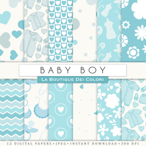 New Baby Blue Digital Paper - La Boutique Dei Colori