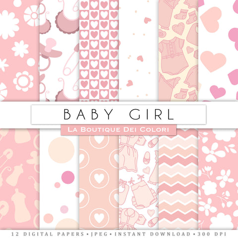 New Baby Pink Digital Paper - La Boutique Dei Colori