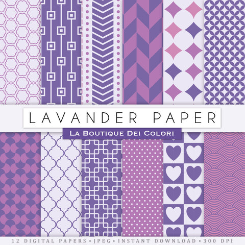 Lavender Digital Paper - La Boutique Dei Colori