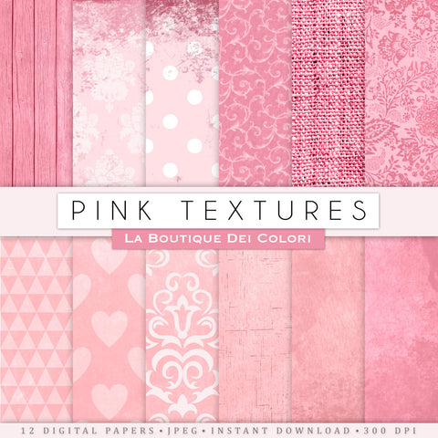 Pink Texture Digital Paper - La Boutique Dei Colori
